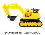 Bulldozer Toy Isolated On Whit...