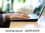 person typing on a modern... | Shutterstock . vector #60941095