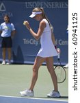CARLSBAD, CA - AUGUST 05: Daniela Hantuchova of Slovakia plays at the Mercury Insurance Open at La Costa Resort and Spa in Carlsbad, CA, on August 5, 2010. - stock photo
