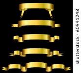 golden banners on black... | Shutterstock .eps vector #60941248