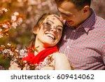 romance  beautiful relationship ... | Shutterstock . vector #609414062