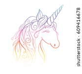 unicorn | Shutterstock .eps vector #609416678