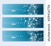 scientific set of modern vector ... | Shutterstock .eps vector #609416756