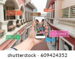 augmented reality marketing... | Shutterstock . vector #609424352