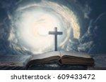 an open bible. religious concept | Shutterstock . vector #609433472