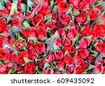 Bunch Of Red Tulips At A Marke...