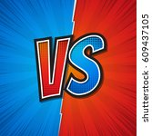 vs  versus  blue and red design.... | Shutterstock .eps vector #609437105