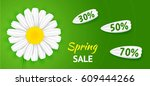 sale concept. spring background ... | Shutterstock .eps vector #609444266