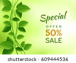 natural green eco banner for... | Shutterstock .eps vector #609444536