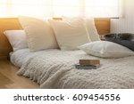 stylish bedroom interior design ... | Shutterstock . vector #609454556