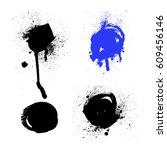 spray paint elements. splash... | Shutterstock .eps vector #609456146