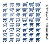 shopping cart web icons set.... | Shutterstock .eps vector #609460376