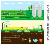 irrigation systems  infographic ... | Shutterstock .eps vector #609468146