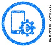 rounded configure mobile euro... | Shutterstock . vector #609469316