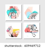 hand drawn vector abstract... | Shutterstock .eps vector #609469712