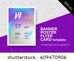 bright vector a4 template with... | Shutterstock .eps vector #609470906