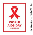 world aids day background | Shutterstock .eps vector #609471116