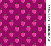 seamless doodle pattern.... | Shutterstock .eps vector #609474818