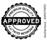 grunge black premium quality... | Shutterstock .eps vector #609479492