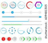 set of loading bars and... | Shutterstock . vector #609481505