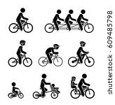 set of pictograms presenting... | Shutterstock .eps vector #609485798