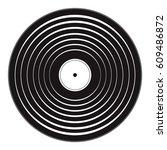 vinyl record  | Shutterstock .eps vector #609486872