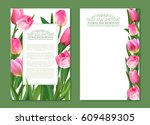 set of vector vertical banner... | Shutterstock .eps vector #609489305
