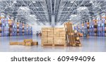 concept of warehouse. the... | Shutterstock . vector #609494096