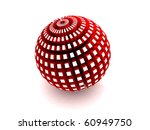 red sphere with extruded...   Shutterstock . vector #60949750