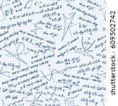 vector mathematics seamless... | Shutterstock .eps vector #609502742