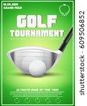 poster template with golf... | Shutterstock .eps vector #609506852