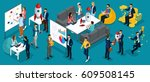 trendy isometric vector people  ... | Shutterstock .eps vector #609508145