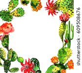 Tropical Cactus Tree Frame In ...