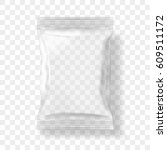transparent packaging for... | Shutterstock .eps vector #609511172