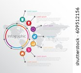 vector infographic templates... | Shutterstock .eps vector #609512156