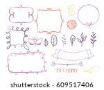 big set of decorative elements... | Shutterstock .eps vector #609517406