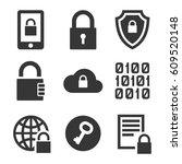 digital encrypt technology... | Shutterstock .eps vector #609520148