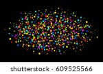 colorful bright rainbow colors... | Shutterstock . vector #609525566
