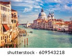 grand canal and basilica santa... | Shutterstock . vector #609543218