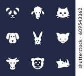 set of 9 alive icons set... | Shutterstock .eps vector #609543362