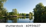 The Oosterpark Lake In A Sunny...