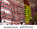 traditional tribal jewellery | Shutterstock . vector #609551762