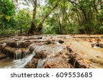 waterfall  dry season in nature ... | Shutterstock . vector #609553685