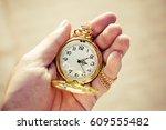 Golden Pocket Watch In Hand...
