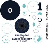 sacred geometry and numerology... | Shutterstock .eps vector #609559832