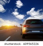 car and light on the road. | Shutterstock . vector #609565226