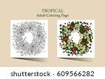 tropic vector illustration.... | Shutterstock .eps vector #609566282