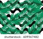 summer background tropical... | Shutterstock .eps vector #609567482