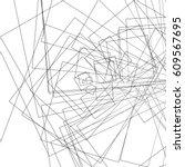 random intersecting lines... | Shutterstock .eps vector #609567695