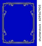 vector art nouveau frames for... | Shutterstock .eps vector #609567905